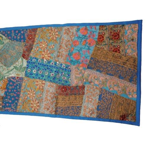 Inde main bleu tapisserie