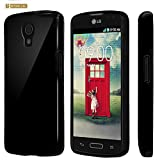 Spots 8 For LG Volt LS740 Premium Elastic Durable Slim Flexible TPU Protector Gel Case With Screen Protector - Black - Retail Packaging