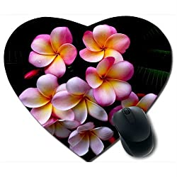 Awwsme Pink White And Yellow Colour Flowers Heart Mousepad