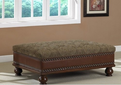 Conversational Coffee Table Ottoman That Attracts Both Leather Ottoman and Upholstered Ottoman Lovers