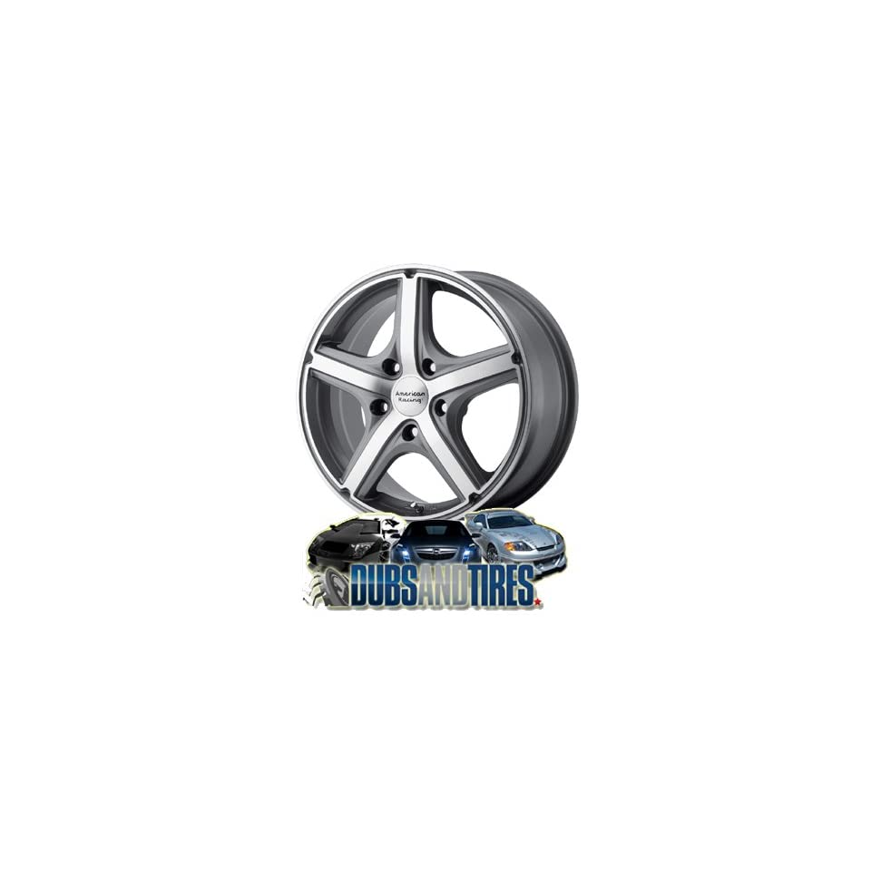 16 Inch 16x7 AMERICAN RACING PERFORM wheels MAVERICK Anthracite w/Machined Face wheels rims