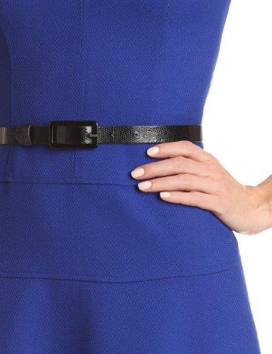 Anne Klein Women's Cap-Sleeve Solid Dress,Klein Blue,8