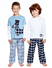 2 Pack Autograph Supersoft Pure Cotton Dog Pyjamas