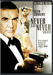 """Never Say Never Again"" is a remake of the EON Production ""Thunderball"" and stars Sean Connery as James Bond."