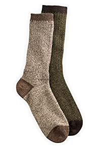 Tey-Art 2-pack Fair Trade Heathered Alpaca Socks