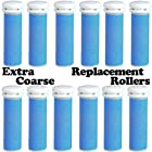 Extra Coarse Blue Micro Mineral Replacement Rollers for Micro Pedi (12 Pack)