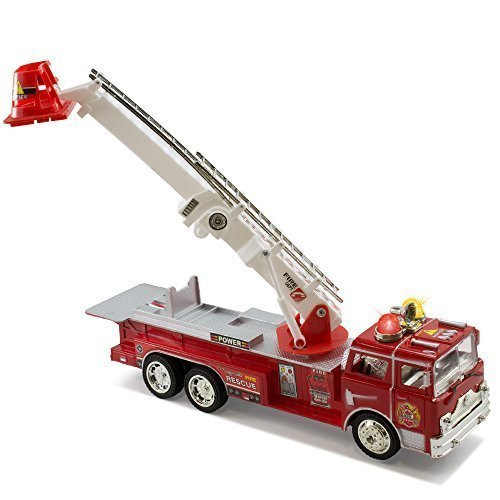 Kidsthrill-Bump-And-Go-Electric-Rescue-Fire-Engine-Ladder-Truck-Kids-Action-Toy-With-Lights-And-Sounds