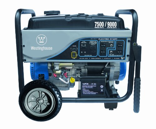 Westinghouse WH7500E, 7500 Running Watts/9000 Starting Watts, Gas Powered Portable Generator primary