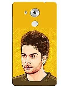 Omnam Virat Kohli Cartoon Printed Designer Back Case For Huawei Honor Mate 8