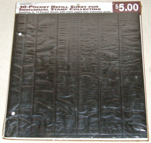 USPS-THE-STAMP-COLLECTORS-ALBUM-REFILL-PACK-10-POCKET-REFILL-SHEET-FOR-INDIVIDUAL-STAMP-COLLECTING