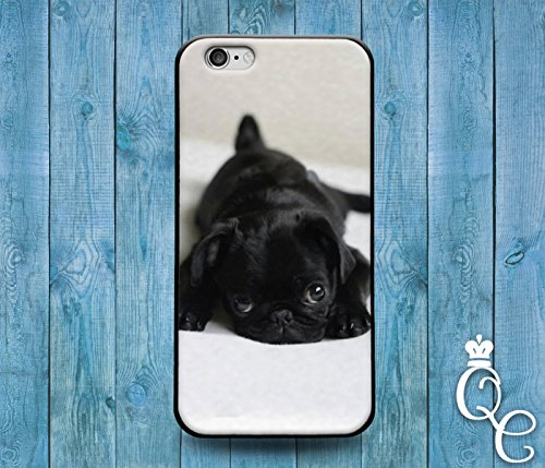 *BoutiqueHouse* iPhone 4 4s 5 5s 5c SE 6 6s plus iPod Touch 4th 5th 6th Gen Cover Case Black Puppy Bulldog Dog Pug Pup Cute Funny Animal Baby Cool Rubber(iPhone 5/5s) (Cool Animal Iphone 5 Cases compare prices)