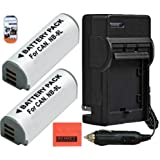Pack Of 2 NB-9L Battery And Charger Kit For Canon PowerShot N Elph 510 Elph 520 Elph 530 HS SD4500 IS Digital Camera + More!!
