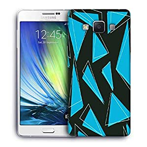 Snoogg Blue Pieces Of Triangle Designer Protective Phone Back Case Cover For Samsung Galaxy ON5