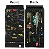 Wrapables 39 Pocket Black Polyester Hanging Jewelry Organizer with 28 Holding Loops