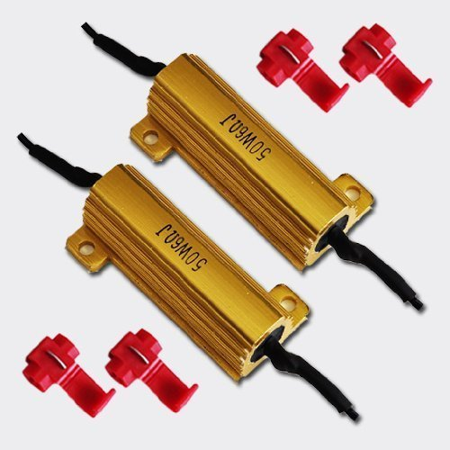 50W 6Ohm Led Load Resistors For Led Turn Signal Lights Or Led License Plate Lights (Fix Hyper Flash, Warning Cancellor)