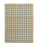 Kilim Carpets by Jalal Alfombra Kilim Box Lt (Beige/Azul)