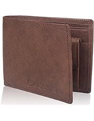 Leather Wallet For Men - Cosmus 100% Original Genuine Leather Wallet - LW-0007 - BLACK