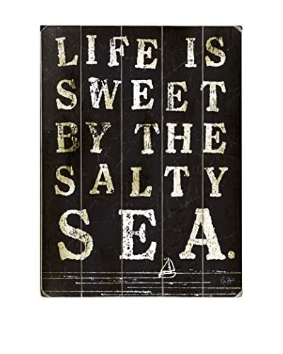 ArteHouse Life Is Sweet By The Sea Wood Wall Decor  [Blue/White]