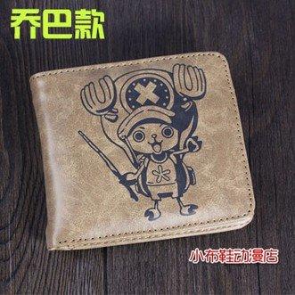 Portafoglio in pelle della Carta di Credito fessure PU Holster Cover in pelle case Cosplay Gattino Banda One Piece Luffy Chopper