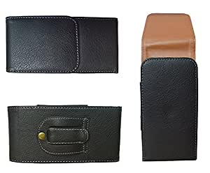 TOTTA Vertical PU Leather Belt Pouch For Rage Octa One- BLACK