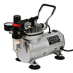 Super Deal Pro Multi-functional Air Compressor Kit 3 Airbrushes Dual-Action Spray Gun Nails Temporary Tattoos Paint Art w/ 1/5HP 3/4 Jar Mini Portable Air Compressor (#1)