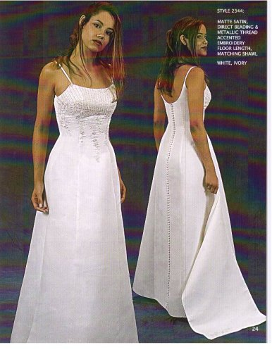 Kathryn La'Croix White Size 12 Informal Bridal Gown Wedding Dress Evening Prom Graduation Debutante
