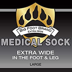 Extra Wide Medical Diabetic Socks for Men Big Foot Brand Superior Stretch Foot Ankle Calf (26 ) for Normal & Wide Feet Swollen Painful Stand All Day Antimicrobial by Oxley Health (12-16 Black)