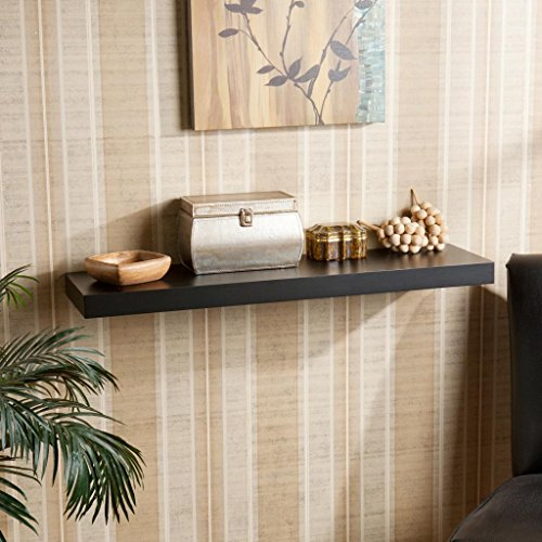 DecorNation Floating Wall Shelf 30 Inches (Black)