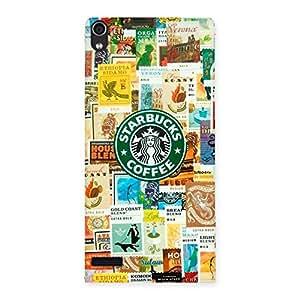Premium Coffee SB Multicolor Back Case Cover for Ascend P6
