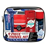 Convenience Kits Men's Deluxe, Man On the Go, 9-Count Travel Kit, Featuring: Old Spice Products (Tamaño: 9 Count)