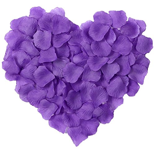 Simplicity 500pcs Silk Flower Rose Petals Wedding Party Decoration, Purple