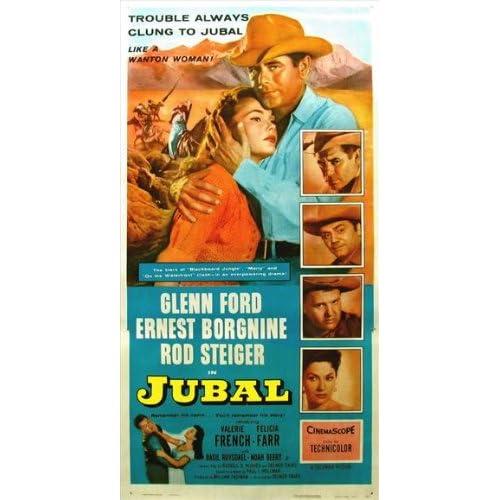 Jubal Movie Poster (11 x 17 Inches   28cm x 44cm) (1956) Style C  (Glenn Ford)(Rod Steiger)(Ernest Borgnine)(Felicia Farr)(Charles Bronson)(Valerie French)