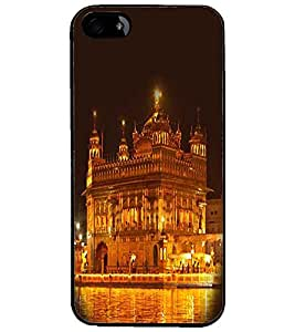 PrintDhaba Golden Temple D-1064 Back Case Cover for APPLE IPHONE 5S (Multi-Coloured)