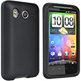 Silicone Skin BLACK Sleeve Rubber Soft Cover Case for HTC INSPIRE 4G & DESIRE HD [WCE897]