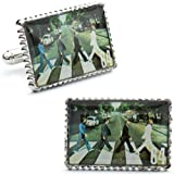 51JSdTgYkpL. SL160  Beatles Abbey Road Album Cover Stamp Cufflinks CLI PB M9309 SL 5