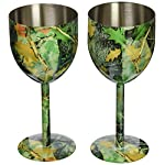 Rivers Edge Products Camo Wine Glass 2 Piece Set