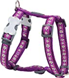 Red Dingo Desinger Dog Harness, Daisy Chain Purple (15mm x Neck: 30-48cm / Body 36-54cm) S