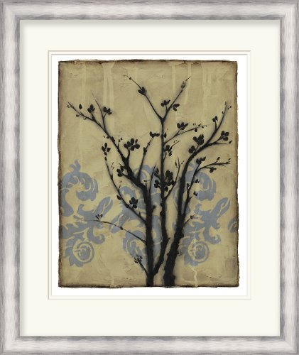 Jennifer goldberger by surya branch in silhouette ii lj 4140 0 tan 26 x 31 botanical floral wall art