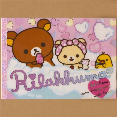 Imagen 1 de Bloc de notas Rilakkuma con osos y un pollito en la bañera