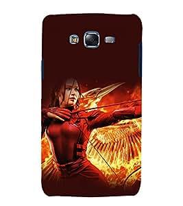 printtech Mockingjay Hunger Games Back Case Cover for Samsung Galaxy A7 / Samsung Galaxy A7 A700F