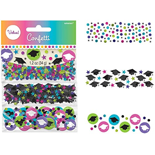 Amscan BB360102 Multicolor Paper and Foil Confetti 1.2 oz. -Each
