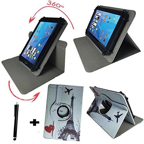Blaupunkt-Endeavour-101G-255cm-101-Tablet-Pc-Tasche-Stylus-Touch-Pen-10-Zoll-Eifelturm-Paris-360