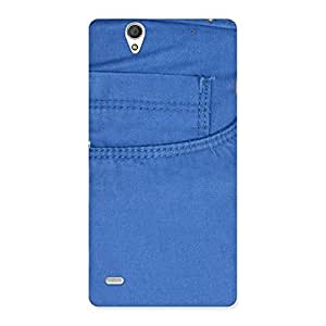 Cute Blue Jeans Back Case Cover for Sony Xperia C4