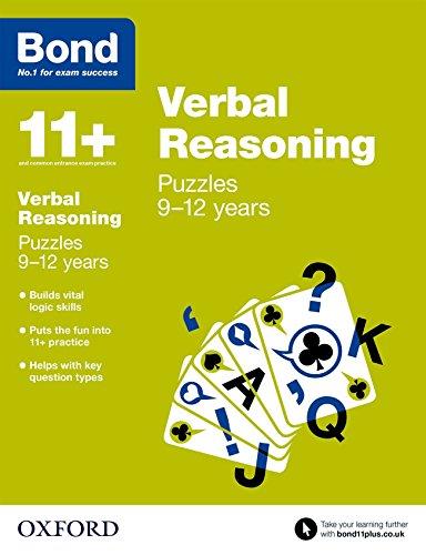 Bond 11+: Verbal Reasoning: Puzzles: 9-12 years