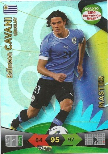 Adrenalyn XL Road To 2014 World Cup Brazil 230 Edison Cavani Master