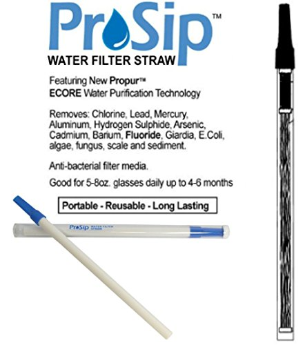 Propur Prosip Water Filter Straw ( Removes Fluoride! ) Emergency Survival (Fluoride Water Treatment compare prices)