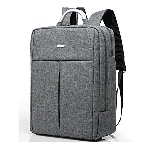 YIYINOE Brand Double Shoulder Designer 15 15.6 inch Men Women Notebook Computer Laptop Backpack for Travel Laptop Bag Student School Bag Grey