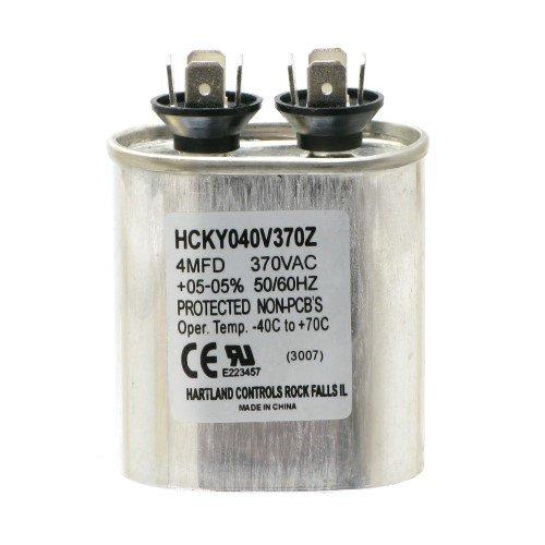 4Mfd ±05% At 370 Vac Motor Run Capacitor, Hartland Controls, Hcky040V370Z