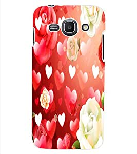 ColourCraft Heart and Flower Design Back Case Cover for SAMSUNG GALAXY ACE 3 S7272 DUOS