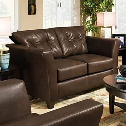 Chelsea Home Del Mar Loveseat in Tonto Espresso